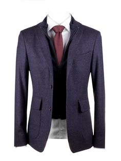 2-BUTTON FRAGOSTO BLAZER WITH BUILT-IN GILET SLIM FIT