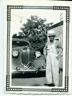 clyde coggeshall, my great grandfather, with his new 1938 plymouth, fullerton, calif, 1938.