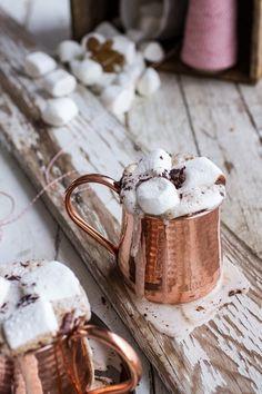 hot mocha chocolate/copper mug luv