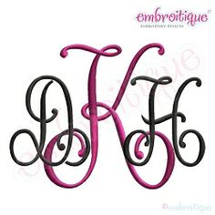 Kennedy Monogram Font - 5 Sizes! | Alphabets | Machine Embroidery Designs | SWAKembroidery.com Embroitique