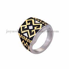 anillo de diseno moda especial en acero plateado inoxidable -SSRGG371759