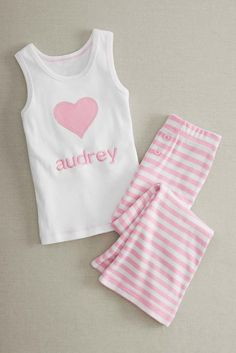 Personalized Luv My Pink Pj's for Girls: #Chasingfireflies $44.99