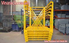 warehouse racking - kệ kho hàng: Pallet lưu trữ hàng trong kho vận tải Logistic