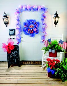 We have everything you need to get ready for the Fourth of July! Try this fun project using deco mesh: