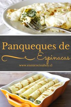 Pancakes with spinach are very common in Chile, a classic meal and . Spinach Recipes, Vegetarian Recipes, Cooking Recipes, Healthy Recipes, Chilean Recipes, Chilean Food, Great Recipes, Favorite Recipes, English Food