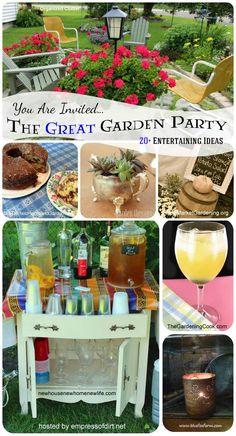 The great garden party: 20+ entertaining ideas at.www.empressofdirt.net/gardenparty #TheGardenCharmers