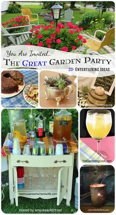 The great garden party: 20+ entertaining ideas at.www.empressofdirt.net/gardenparty