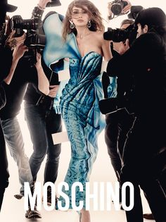Gigi Hadid stars in Moschino's spring-summer 2017 campaign