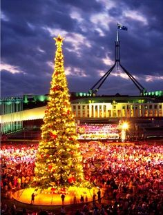 Canberra is not just capital of Australia but also an enjoyable tourist city as well. If you are planning a trip to Canberra then should not miss these awesome tourist… Aussie Christmas, Christmas And New Year, All Things Christmas, Christmas Lights, Christmas Holidays, Christmas Decorations, Australian Christmas, Celebrating Christmas, Christmas Markets