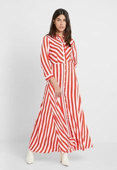 d67127ede5 YAS YASSAVANNA LONG SUMMER DRESS - Długa sukienka - fiery red - Zalando.pl
