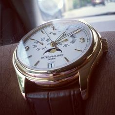 Patek Philippe Calatrava 5146J Annual Calendar in 18k Yellow Gold with Power Reserve and Moon