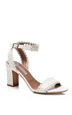 55a285f7a97 Scalloped-Leather Block-Heel Sandals. Moda Operandi. Tabitha SimmonsFlat  BootsBeautiful ShoesBlock HeelsAnkle StrapHeeled ...