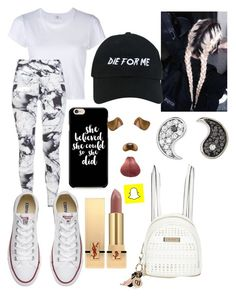 """Untitled #39"" by cry0baby ❤ liked on Polyvore featuring RE/DONE, Varley, Converse, Yves Saint Laurent, River Island, Sydney Evan and Nasaseasons"