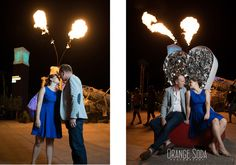 Liz and Greg - Las Vegas Container Park Engagement Session
