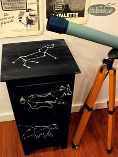 ART IS BEAUTY: Constellation Themed Night Stand Makeover.