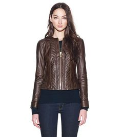 Emmy Leather Jacket | Womens Jackets & Outerwear | ToryBurch.com