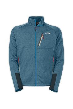 The North Face Men's Canyonlands Full Zip Jacket. At almost 16 ounces, this versatile midweight hardface fleece pullover delivers midweight warmth without weight. The durable, abrasion-resistant exterior is ideal for prolonged use at the crag and the brushed back offers next-to-skin comfort. Thumbholes at the stretch cuffs provide low-profile coverage when you're reaching for the next handhold.