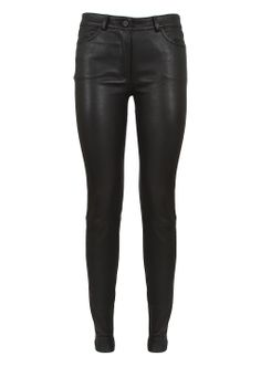 T by Alexander Wang Pants :: T by Alexander Wang black lambskin leather pants | Montaigne Market