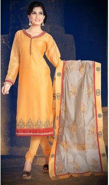 Orange Color Chanderi Silk Straight Cut Readymade Churidar Suit   FH512978103 #salwar, #kameez, #readymade, #anarkali, #patiala, #pakistani, #suits, #online, #stitched, #indian, #dress, #material, #shopping, #fashion, #boutique, #mode, @heenastyle , #designer , #pakistani , #evening , #wedding , #casual , #palazzo , #patiyala , #punjabi , #churidar , #narrow