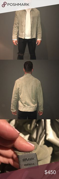 PRICE DROP! John Varvatos Suede Jacket Barely worn suede jacket. Like new!! Very nice greenish khaki color. European 52 or men's medium. Purchased at Neiman Marcus for over $3000. John Varvatos Jackets & Coats Lightweight & Shirt Jackets