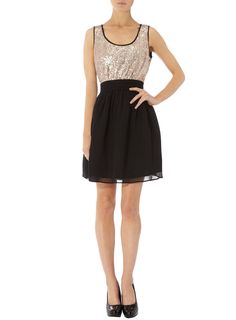 Sequin top skater dress - Going Out Dresses - Dresses - Dorothy Perkins United States