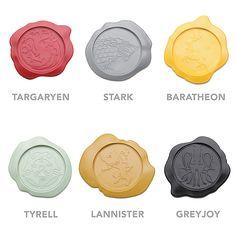 Game of Thrones Wax Seal Coasters - Geek Decor #GameOfThrones #GOT