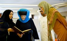 Queen Beatrix and Maxima, Dubai 2012... i love how they still wear their hats