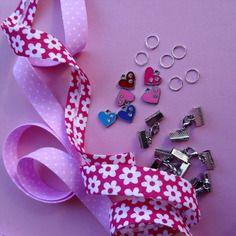 Kit pour fabriquer 6 bracelets en tissu + breloque + sachet cadeau