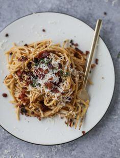 Butternut Squash Spaghetti Carbonara. | How Sweet It Is | Bloglovin'