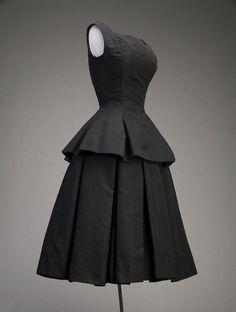 Silk faille cocktail dress, 1954 (Dior)