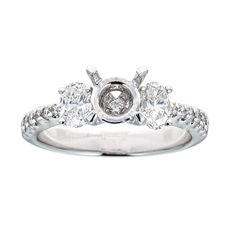 Natalie K 18k White Gold & Diamonds Engagement Ring