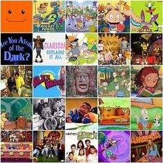"""Fave from the 90s- orange full screen face was the """"host"""" of Nick Jr."""