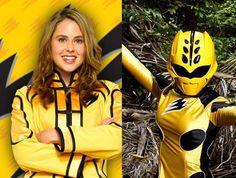 Power Rangers Jungle Fury Yellow Rangers spirit animal, the cheetah; Elephant and the Penguin