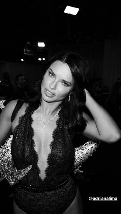"b9acf1d90a theyloveadrianalima  ""Adriana Lima backstage at her last VS Fashion Show"