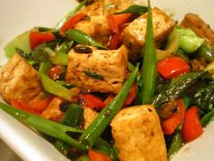 Tofu in Black Bean Sauce is an easy flavorful Asian tofu dish.