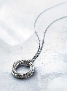 #silver #hoop #necklace