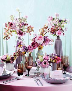 Beautiful flower arrangement (even prettier in the magazine - Martha Stewart Weddings Fall 2011)