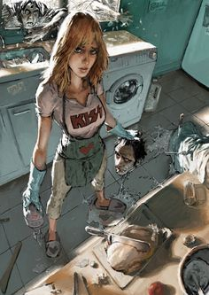 Discover the finest artists from animation, games, illustration and comics. Zombie Kunst, Art Zombie, Zombie Life, Character Design References, Character Art, Heroine Marvel, Comic Books Art, Book Art, Character Illustration