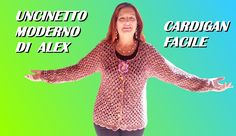 how to crochet a very easy granny cardigan for beginners, simple and quick to do. English tutorial any size. Cardigan Au Crochet, Crochet Jacket, Crochet Cardigan, Crochet Sweaters, Pull Crochet, Crochet Baby, Knit Crochet, Point Granny Au Crochet, Crochet Simple