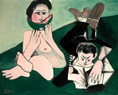 Pablo Picasso. Mangeuse de pastèque et homme écrivant 1965