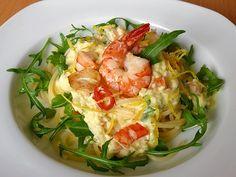 Scharfe Zitronenspaghetti mit Frischkäse und Garnelen, ein schönes Rezept aus der Kategorie Krustentier & Muscheln. Bewertungen: 80. Durchschnitt: Ø 4,3.