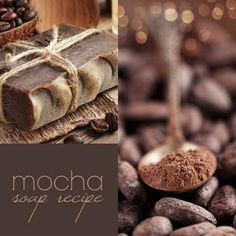 Mocha soap recipe- this soap is a little coffee and little chocolate and a whole lot of goodness. DIY Recipe & Tutorial with pictures.