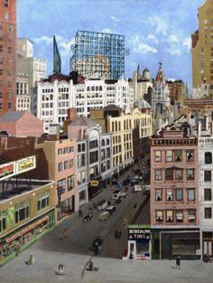 Lucille Blanch (American 1895-1981) Eighth Avenue and 56th Street, 1930 32 x 24 1/8 inches oil on canvas