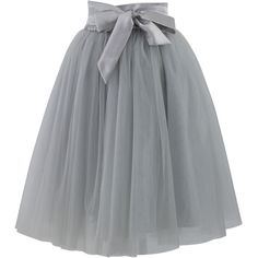 Chicwish Amore Tulle Skirt in Grey (12.015 HUF) ❤ liked on Polyvore featuring skirts, bottoms, gonne, faldas, knee length tulle skirt, layered skirt, grey tulle skirt, layered tulle skirt and chicwish skirt