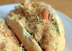 Bread Roll with Cotton Chicken - Bánh Mì Gà | Asia Dish