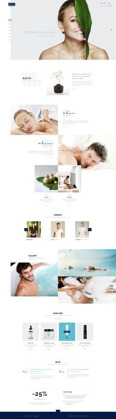 Bleute - Beauty | Spa | Hair | Wellness/Salon PSD - PSD Templates | ThemeForest