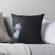 'Three Eyed Alpacas' Throw Pillow by octolancers Third Eye Opening, Alpaca Throw, Cold Mountain, Alpacas, My Arts, Throw Pillows, Art Prints, Printed, Awesome