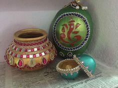 Diwali Decorations, Indian Wedding Decorations, Festival Decorations, Kalash Decoration, Coconut Decoration, Diwali Craft, Wedding Crafts, Diy Wedding, Marriage Decoration
