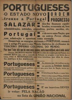 Crise Financeira de 1928 History Class, World History, Nostalgic Pictures, Political Ads, Brand Packaging, Lisbon, Vintage Posters, Nostalgia, Politics