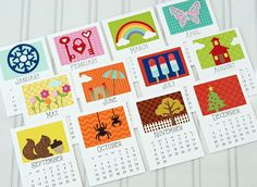 2015 3x4 Calendar by Taylor VanBruggen - These are super cute, but I don't think the calendar base cards are available in digital format.